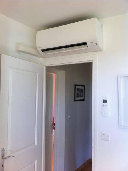 installation de climatisation r versible daikin pour les chambres d 39 une villa six fours les. Black Bedroom Furniture Sets. Home Design Ideas